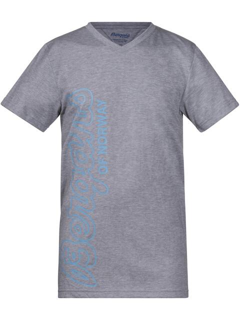Bergans Tee Youth Grey Melage/Glacier/Steel Blue